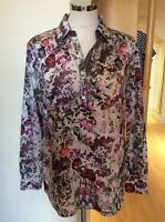 Gerry Weber Blouse Size 10 BNWT Purple Green Pink Floral RRP £75 Now £23