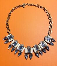 J. Crew White Crystal Chain Collar Necklace
