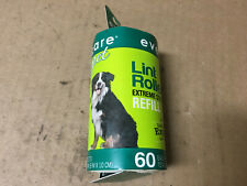 """Evercare Pet Hair Adhesive Roller Refill Roll 60 Sheets 29.8' Long X 4"""" Wide"""