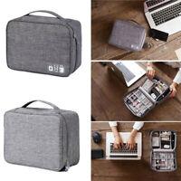 Electronics Accessories Organizer Travel Storage Bag Cable USB Portable Case