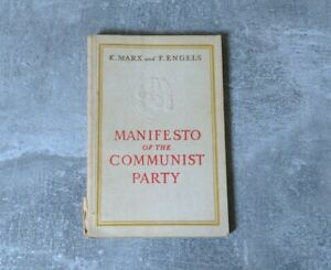K.Marx And F.Engels Manifesto Of The Communist Party