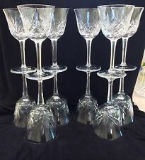 Set 12 Gorham CHERRYWOOD CLEAR Vintage Cut Crystal Wine Glasses Goblets