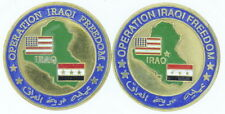 Lot of 2 United States Operation Iraqi Freedom Marine Corps Brass Medallions