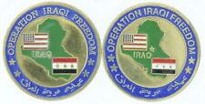 Lot of 2 United States Operation Iraqi Freedom Marine Corps Brass Medallions