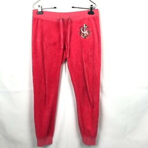Juicy Couture Joggers Pink Drawstring Size Small