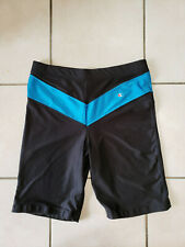 Vintage Champion Nylon/Lycra/Spandex Compression Shorts, Black/Blue, XL