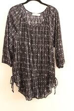 Faded Glory Blouse Size XL (16-20)  Multi Color 3/4 Sleeve Blouse Top