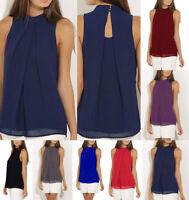 Women Lady Sleeveless Vest Top Blouse Casual Tops Crew Summer T-Shirt