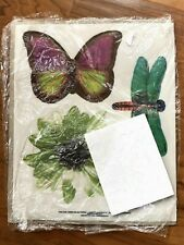 Vintage Current Gift Toppers Butterflies Dragonflies Flowers Vellum New