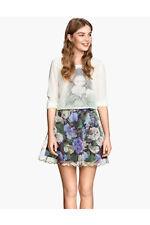 BNWT - H&M - Hydrangea Floral Patterned Organza Skirt - UK 12