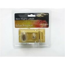 Rim Night Latch Set Plus 3 Keys - Brass Front Door Lock With 60mm Back