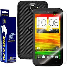 ArmorSuit MilitaryShield HTC One X Screen Protector + Black Carbon Fiber Skin!