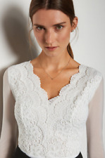 Karen Millen - Long Sleeve Lace Bodysuit - Ivory - New With Tag - Size - 12