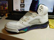 Used Air Jordan Retro 5 Grape US size 8 Single Shoe ***RIGHT SIDE SHOE***
