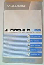 M-Audio Audiophile USB MIDI Controller User Guide / Manual - Very Good Condition