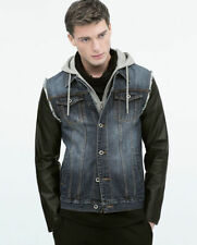 Cotton Button Hooded Regular Size Coats & Jackets for Men
