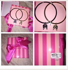Victoria's Secret Set 2 Bangle Bracelets Wing Gem Rhinestone Bling Charms NIB