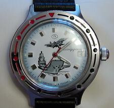 Wrist Mechanical Automatic Watch VOSTOK KOMANDIRSKIE Air Force Carrier 921261