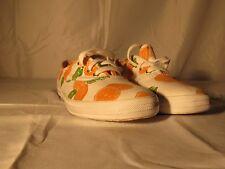 CITRUS MANIA womens keds shoes 5 NEW w/o box Oranges Mint White