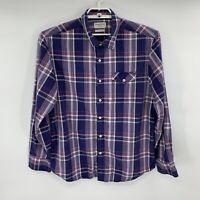 Tommy Bahama Men's Button Down Shirt Island Modern Fit Purple Size L Plaid D9