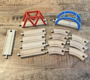 Wooden Train Tracks Thomas brio Compatible lot of 14 straight curved pieces
