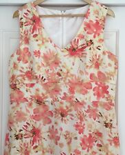 Aero Dres 14 Linen  floral pretty sleeveless shift cool