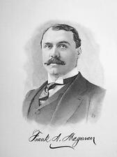 FRANK MAGOWAN New Jersey Rubber Cloth Watch Companies - 1895 Portrait Print