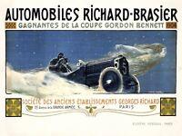 Motor Sport Automobile Car Gordon Bennett Cup France Paris Canvas Art Print