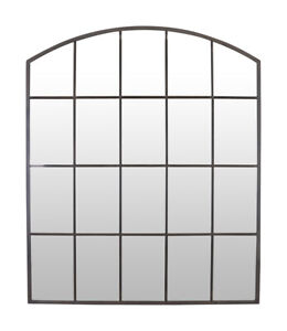 Select Mirrors Stamford Metal Arched Window Mirror Rustic Metal 90 x 60cm