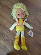 "Emotions Vintage Rainbow Brite 1983 Color Kid Canary Yellow 16"" Doll w/ Leggings"