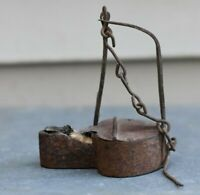Old Antique Vtg Early 19th C 1800s Tin Betty Lamp or Whale Oil Lamp