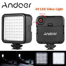 Cámara SLR ANDOER Mini 49 LED Luz de vídeo Lámpara Panel para Canon Nikon SONY A7 D UK