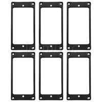 6 pieces Flat Metal Humbucker Pickup Mounting Ring - Black