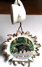 GREAT SMOKY MOUNTAINS BLACK BEAR MINI PLATE, CUP & HOLDER COLLECTIBLE