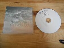 CD pop Charlene soraia-wherever you will go (2 chanson) promo peacefrog
