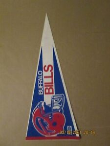 NFL Buffalo Bills Vintage 2 Bar Facemask Circa 1990's Team Logo Football Pennant