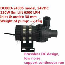 POWERFUL 24V 120W DC Brushless Water Pump DC80D-2480S 8m Lift 6300 LPH Strong