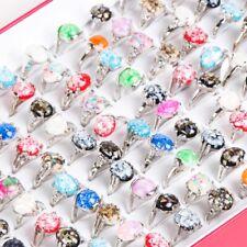 Wholesale Jewelry Mixed Lots 12pcs Women Lady's Yuhua stone pebble Shell Rings