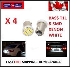 4X BA9S T11 1206 8SMD T4W H6W Led License Plate Map Dome LED Light Xenon Short