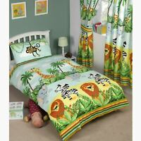 JUNGLE TASTIC ANIMAL THEMED BEDDING BEDROOM – SINGLE, TODDLER & DOUBLE SIZES
