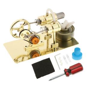 NEW Mini Steam Heat Stirling Engine Motor Generator Model Kit DIY Science Toy UK