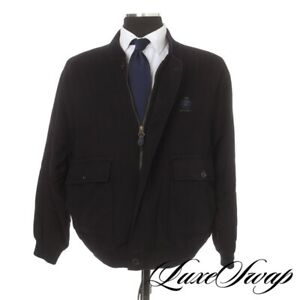 Paul & Shark Yachting Italy L. Piana Cashmere Wool Navy Flannel Blouson Coat L