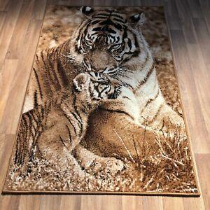 Quality Rug 100cm x 150cm tiger cubs print  kids bedroom lounge playroom (618)