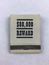 Vintage 80000 Reward Mail-in Correspondence School Promotional Matchbook