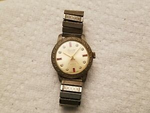 VINTAGE 1950s Lucerne De Luxe Women's Wrist Watch Swiss Made PARTS Deluxe Band