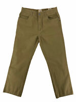 Red Head Mens Green Flat Front Casual Comfort Hunting Field Pants Size 34x30