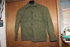 US Military Issue Army Olive Green Cold Weather Field Shirt Wool Jacket Vintage2