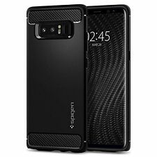 For Samsung Galaxy Note 8 Rugged Armor Shockproof Carbon Fiber Case Cover Black