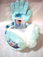 DISNEY Frozen ll Girls Blue White Earmuff & Gloves Set NWT