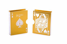 Metal Bicycle Playing Card Clip Deck Protector Case Trick Magic Predict - Gold